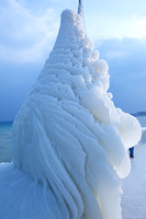 Ice sculpture created by wind