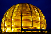 The Globe of Innovation, CERN at night