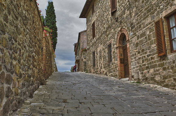 Road in Montalcino, Italy